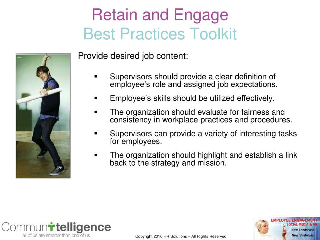 Provide desired job content: