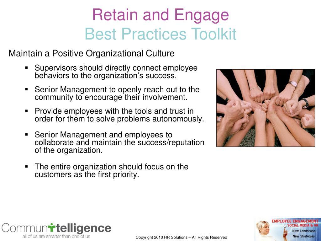 Maintain a Positive Organizational Culture