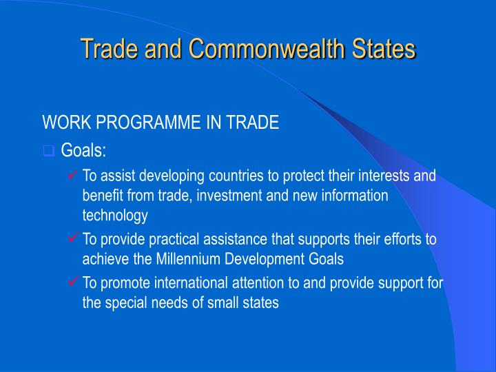 Trade and commonwealth states3