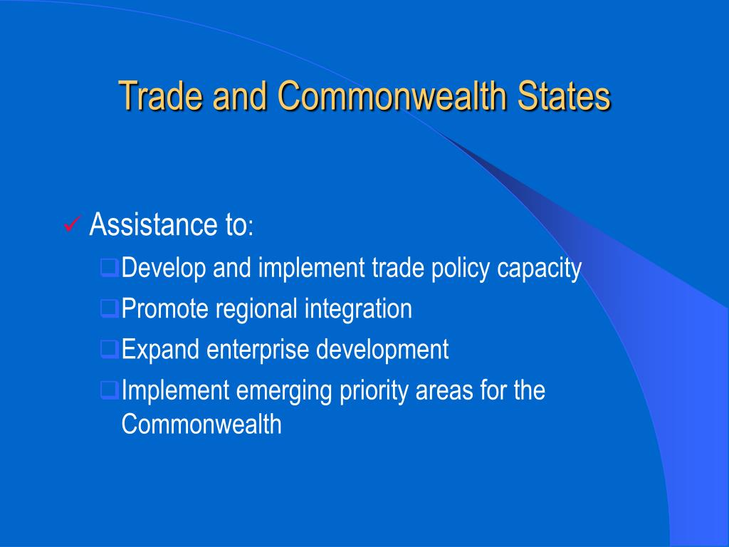 Trade and Commonwealth States