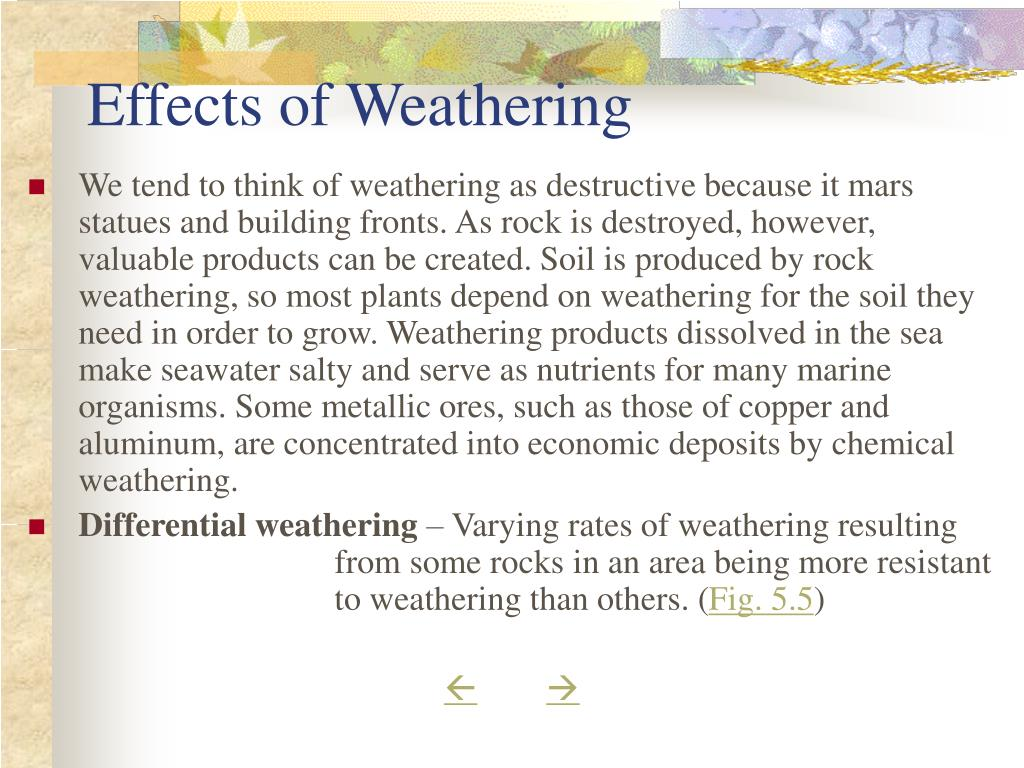 Effects of Weathering