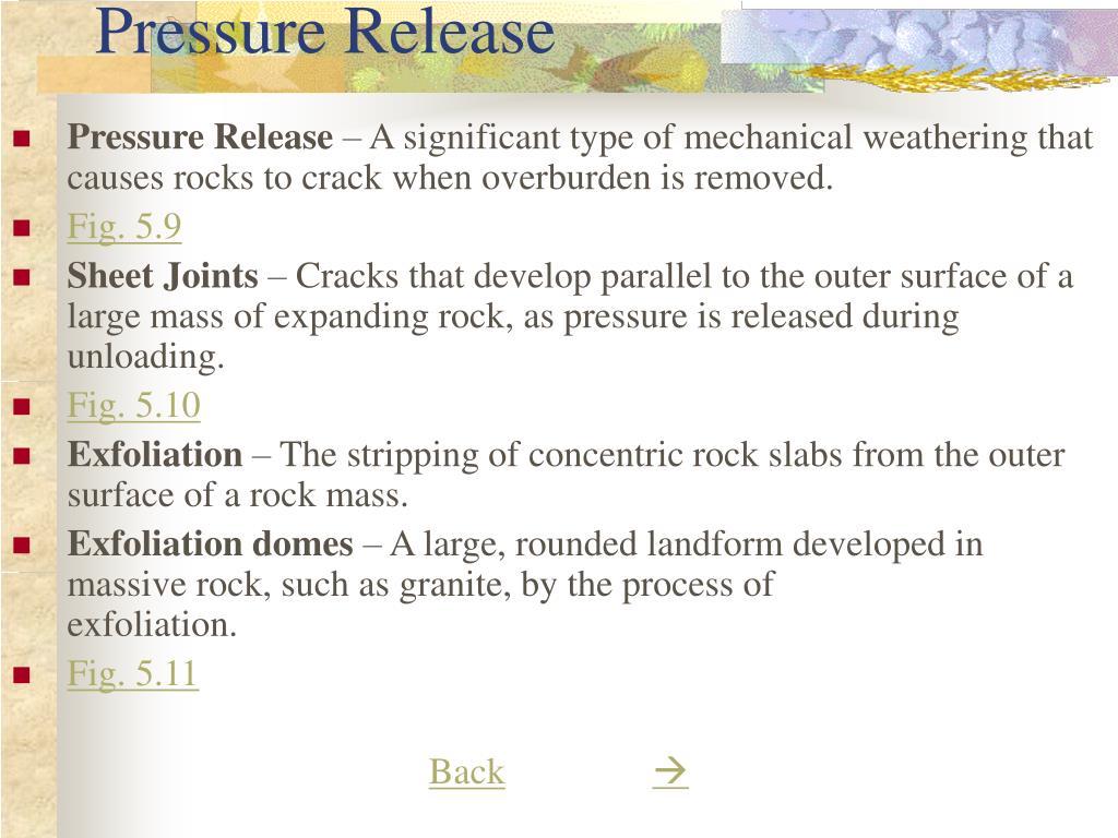 Pressure Release