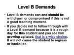 level b demands50