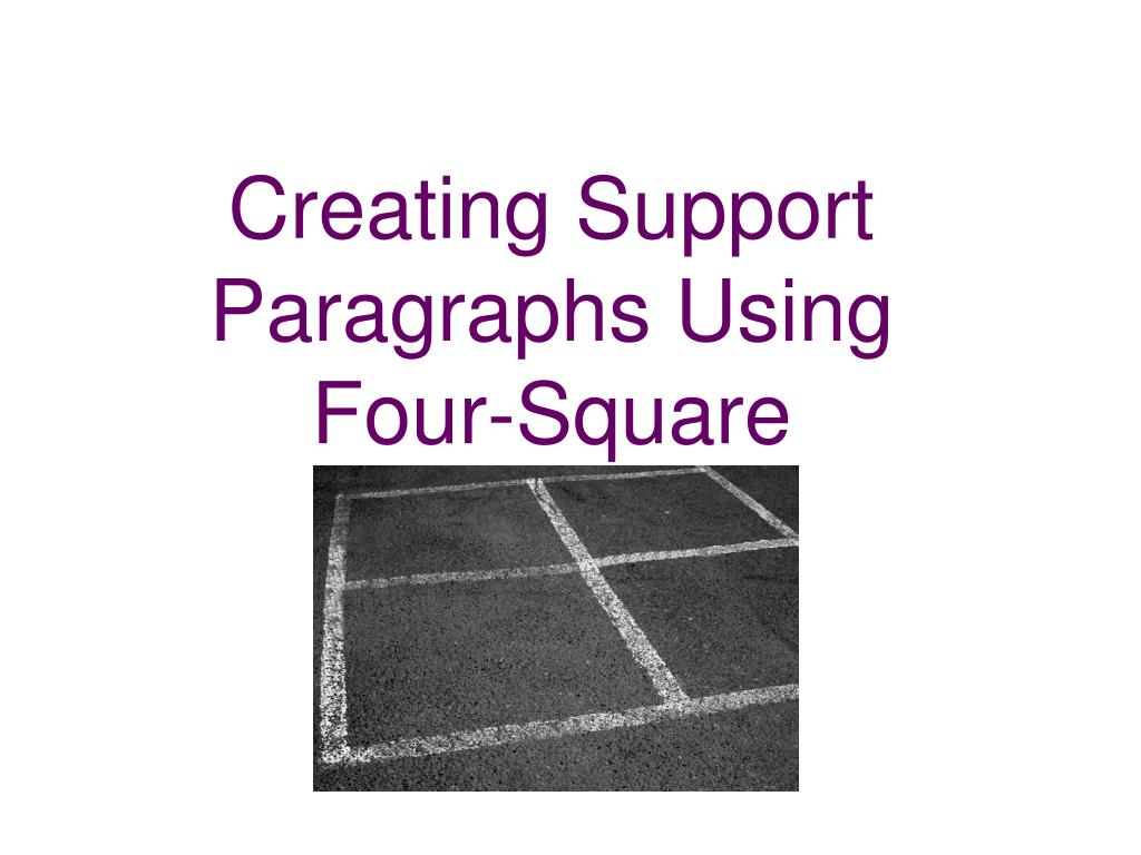Creating Support