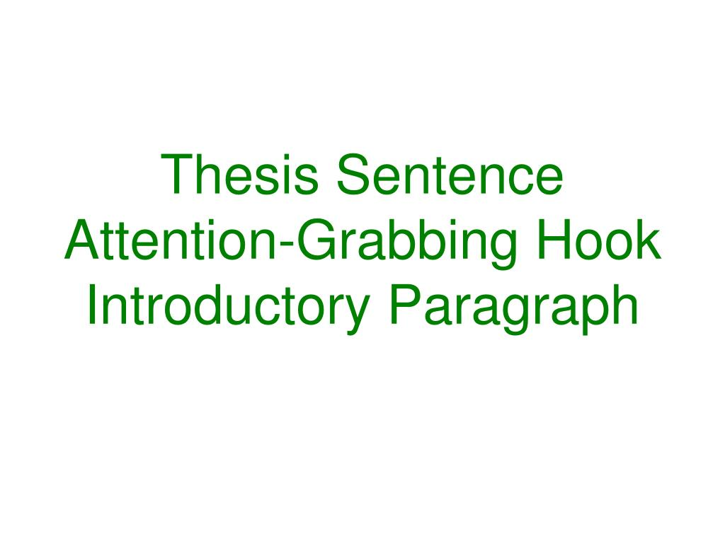 Thesis Sentence