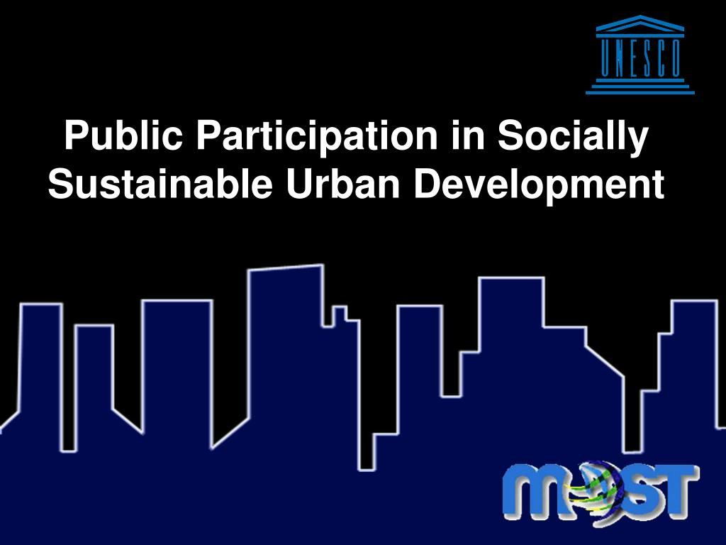 Public Participation in Socially