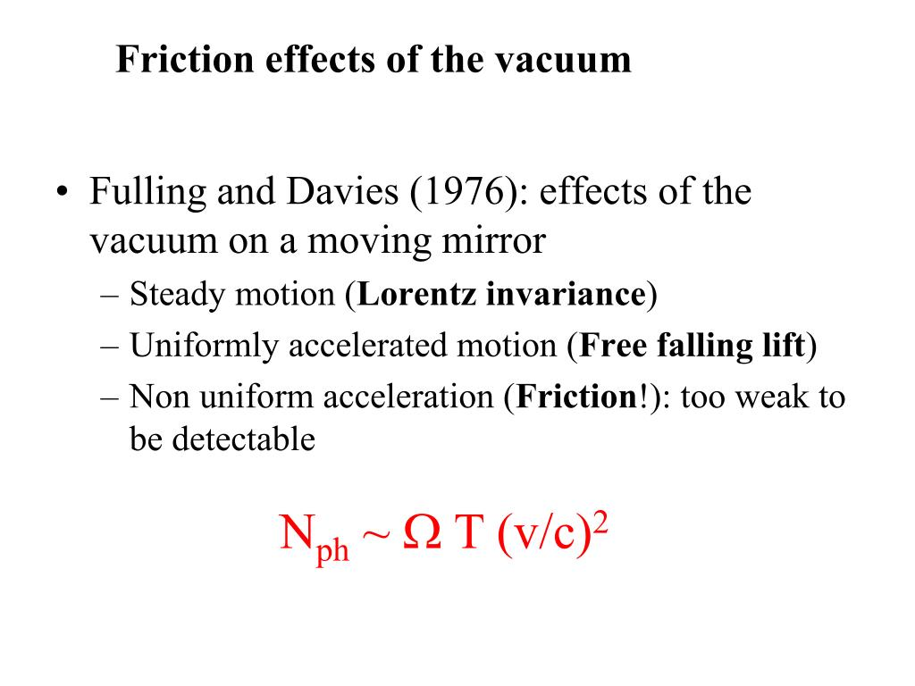 Fulling and Davies (1976): effects of the vacuum on a moving mirror