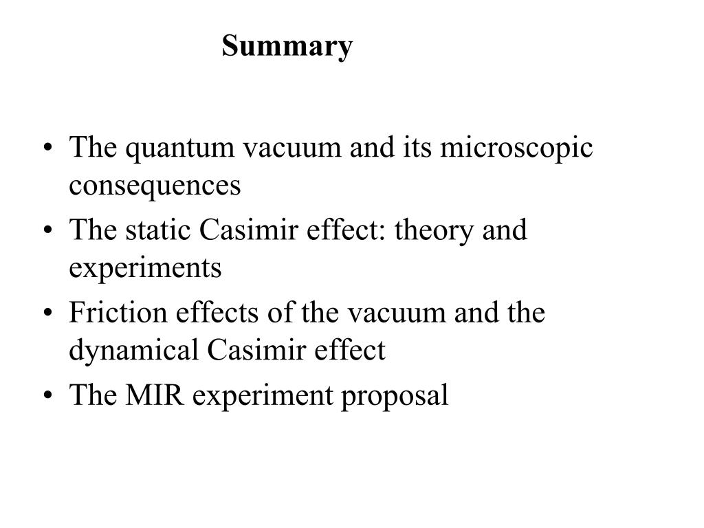The quantum vacuum and its microscopic consequences