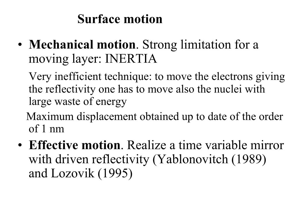 Mechanical motion