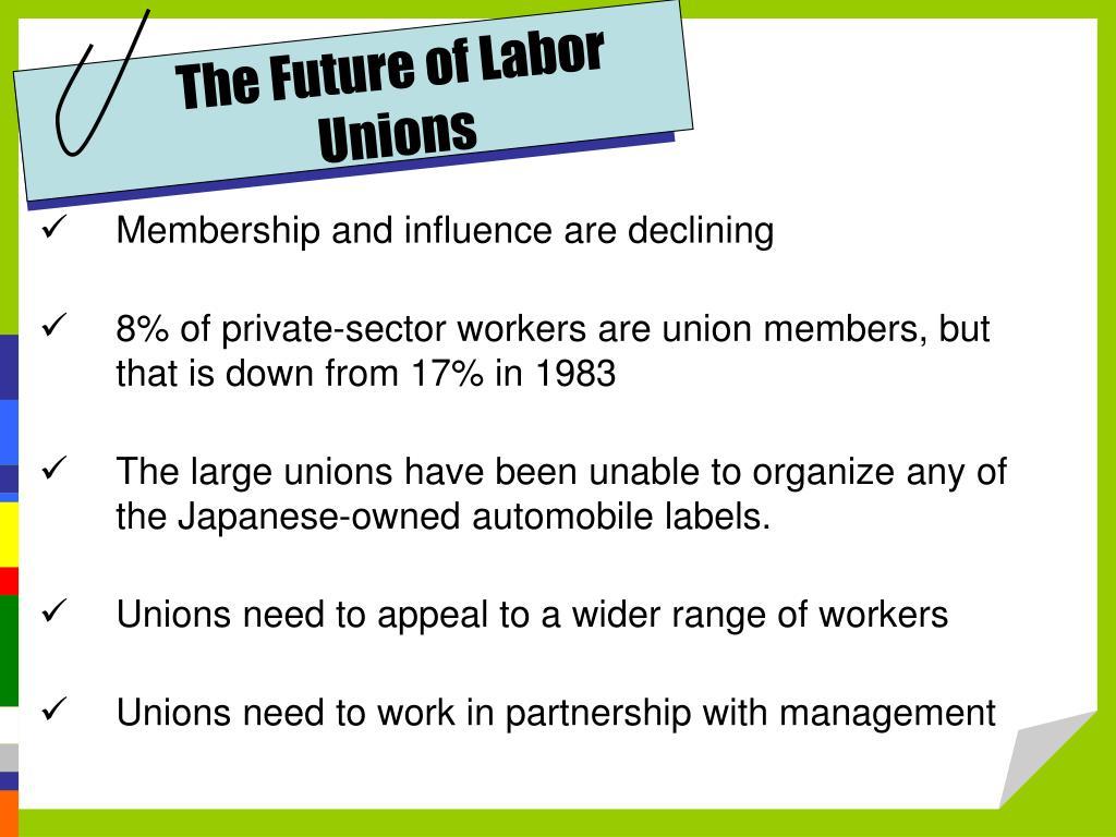The Future of Labor Unions