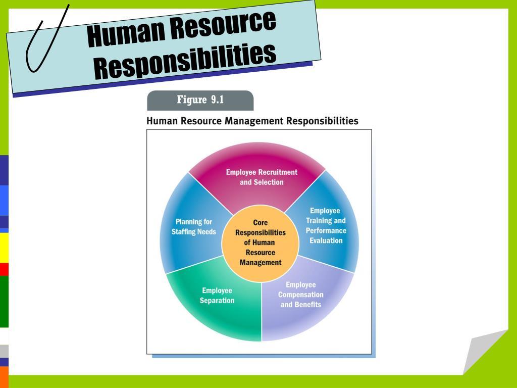 Human Resource Responsibilities