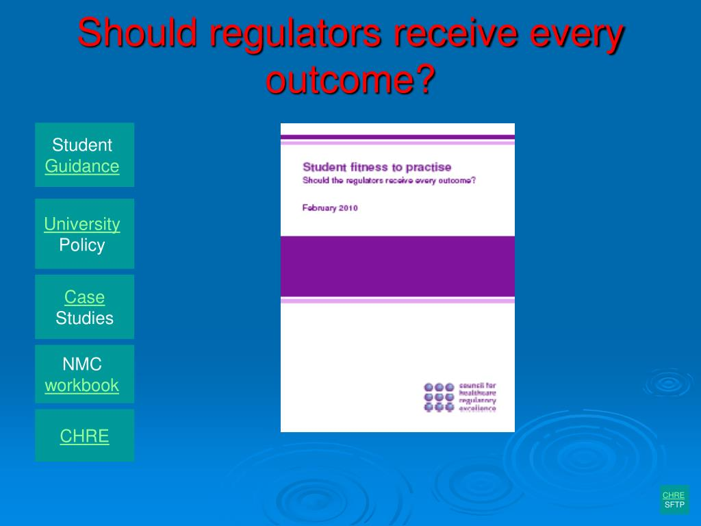 Should regulators receive every outcome?