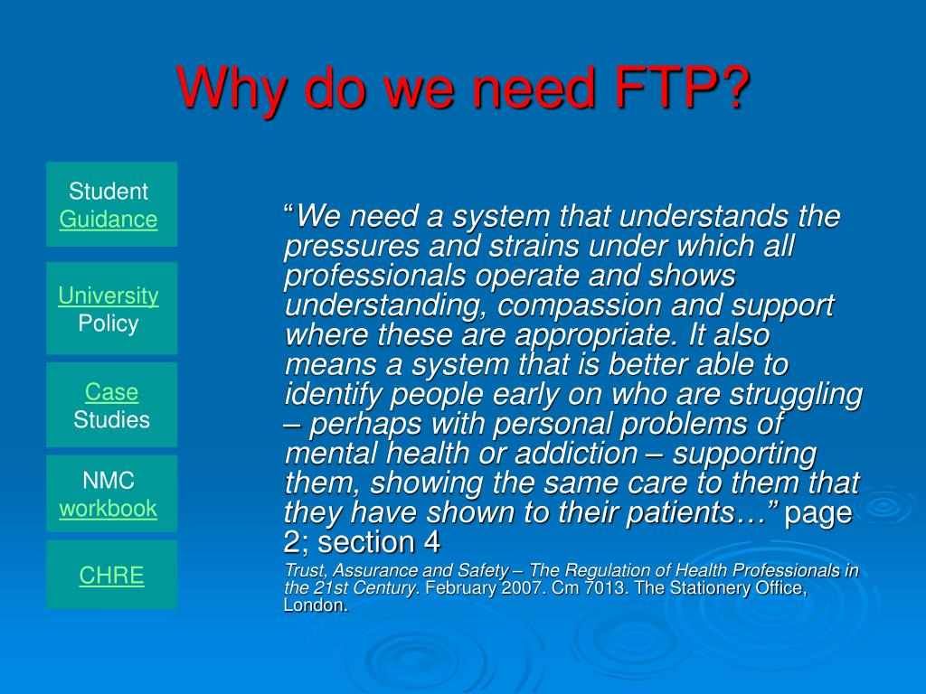 Why do we need FTP?