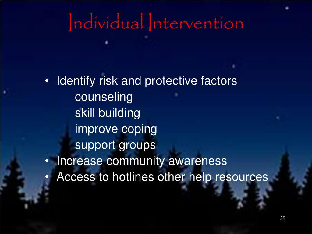 Individual Intervention