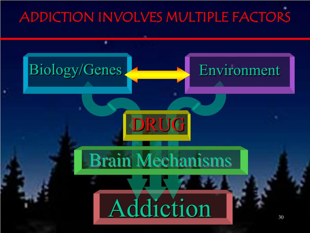 ADDICTION INVOLVES MULTIPLE FACTORS