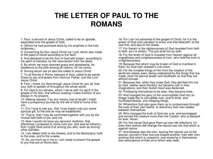 The letter of paul to the romans l.jpg