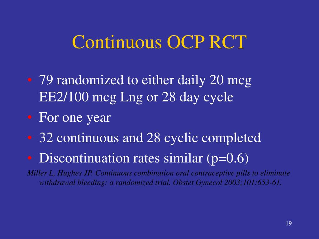 Continuous OCP RCT