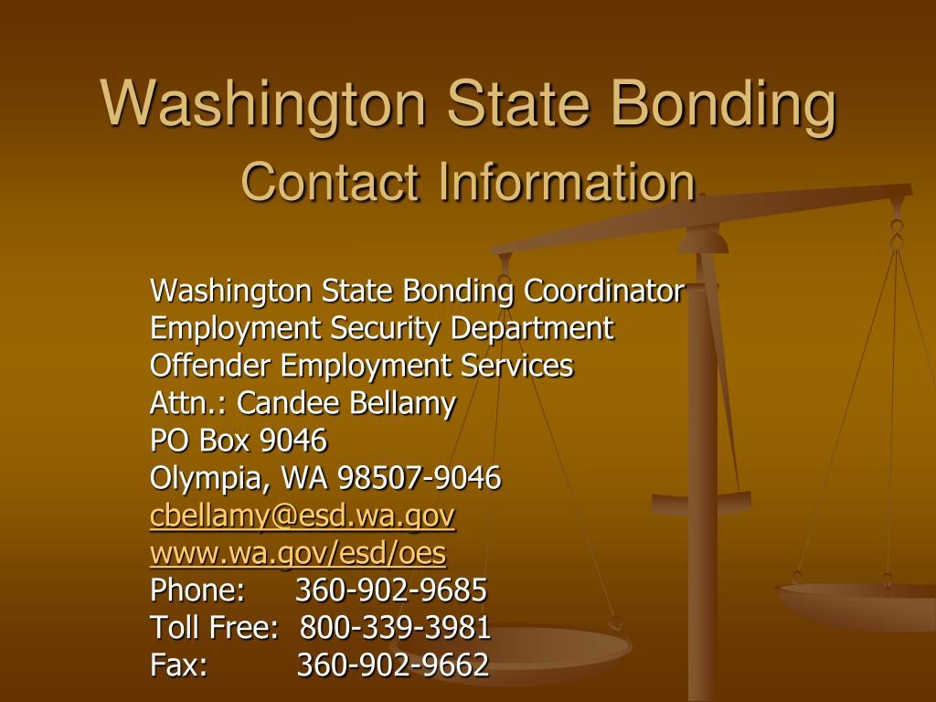 Washington State Bonding