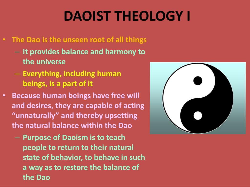 DAOIST THEOLOGY I