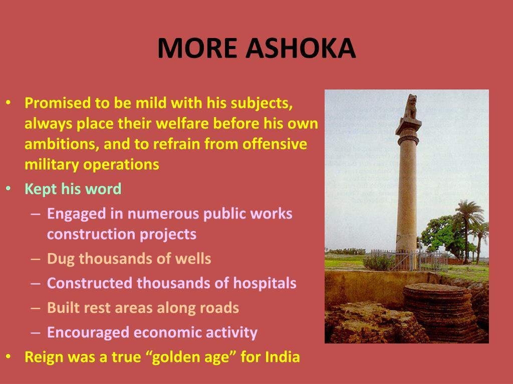 MORE ASHOKA