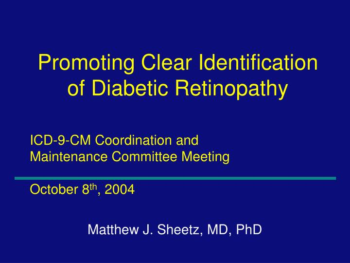 Icd 9 cm coordination and maintenance committee meeting october 8 th 2004