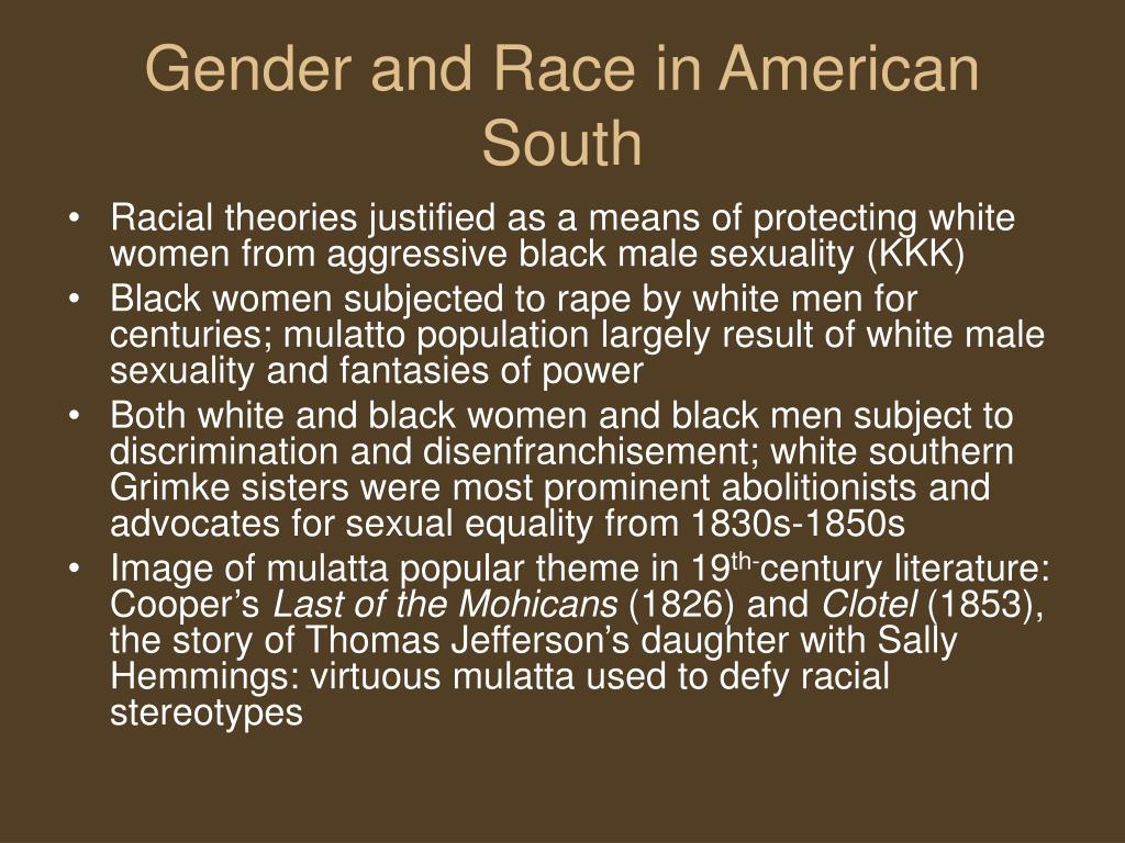 Gender and Race in American South