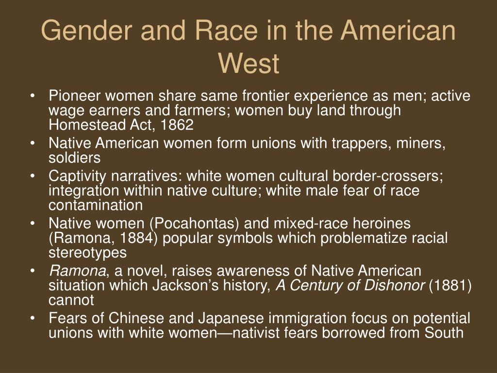 Gender and Race in the American West