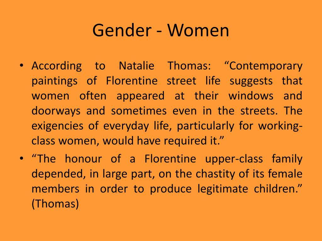 Gender - Women