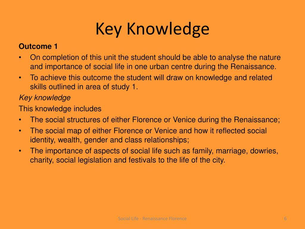 Key Knowledge