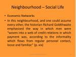 neighbourhood social life