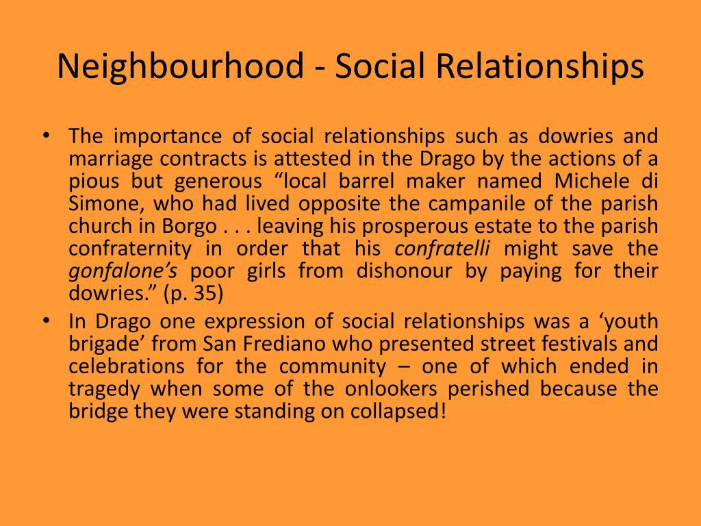 Neighbourhood - Social Relationships