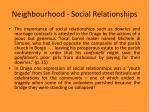 neighbourhood social relationships15