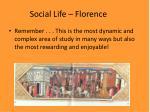 social life florence