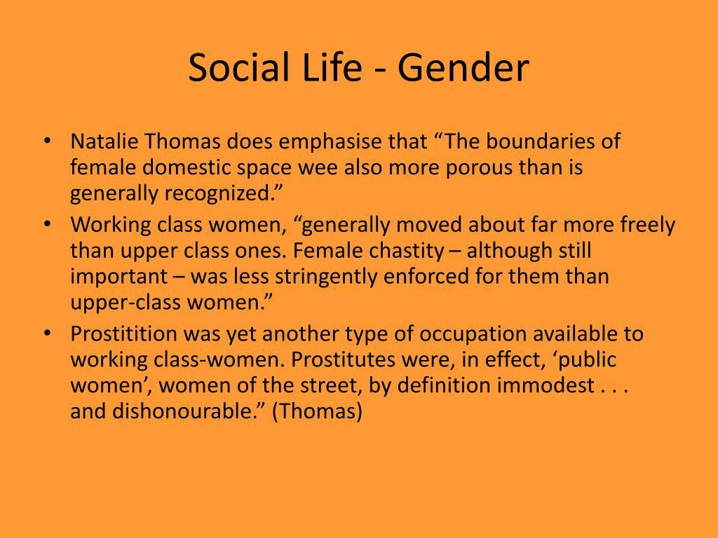 Social Life - Gender