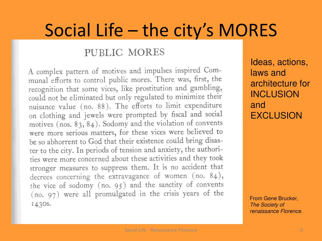 Social Life – the city's MORES