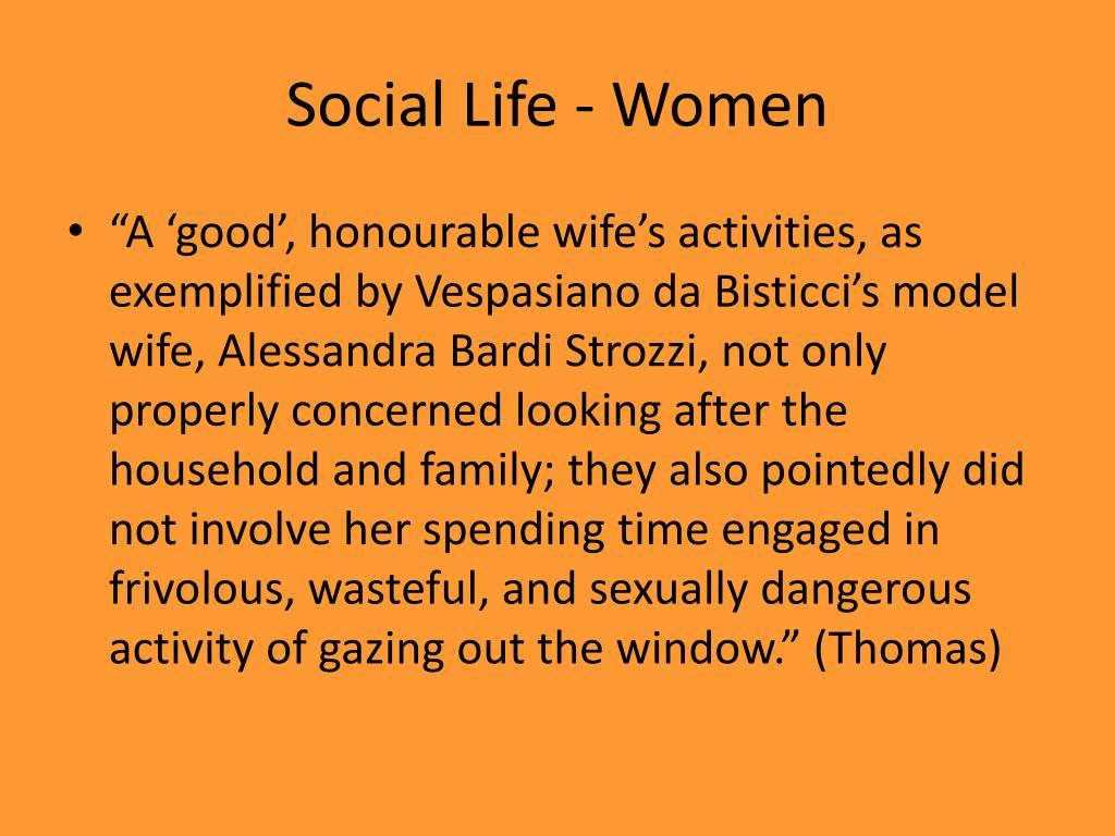 Social Life - Women