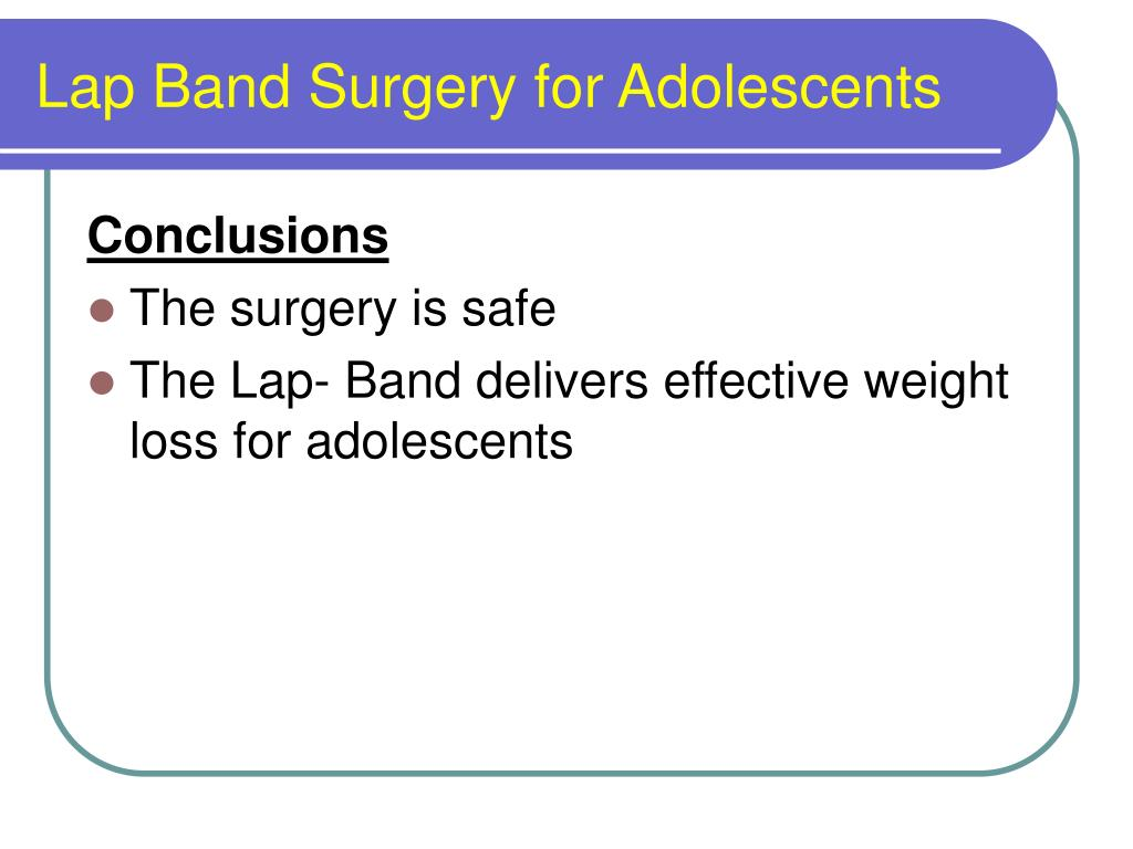 Lap Band Surgery for Adolescents