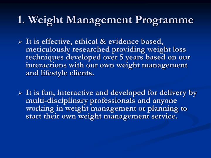 1 weight management programme
