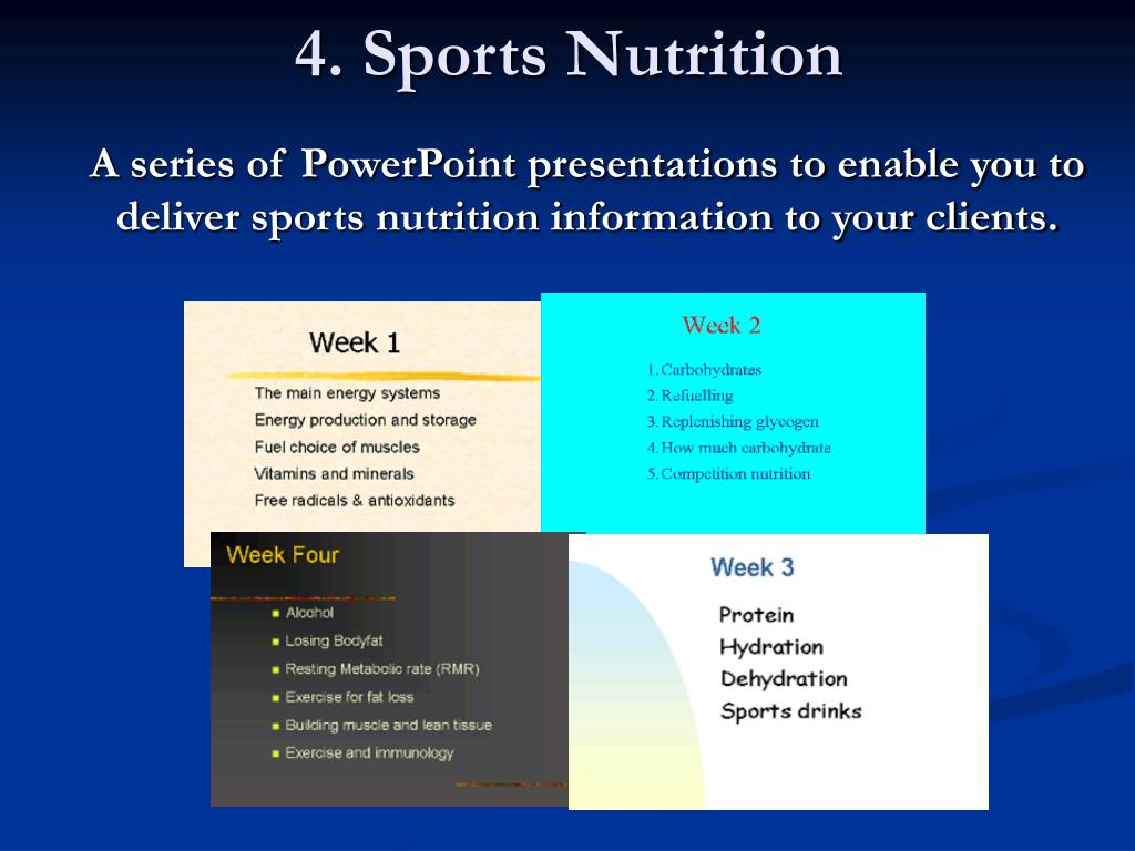 4. Sports Nutrition
