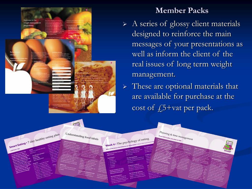 Member Packs