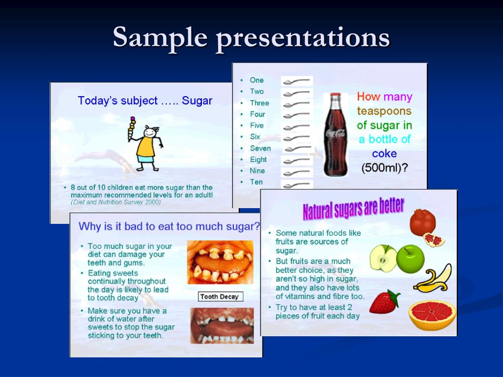 Sample presentations