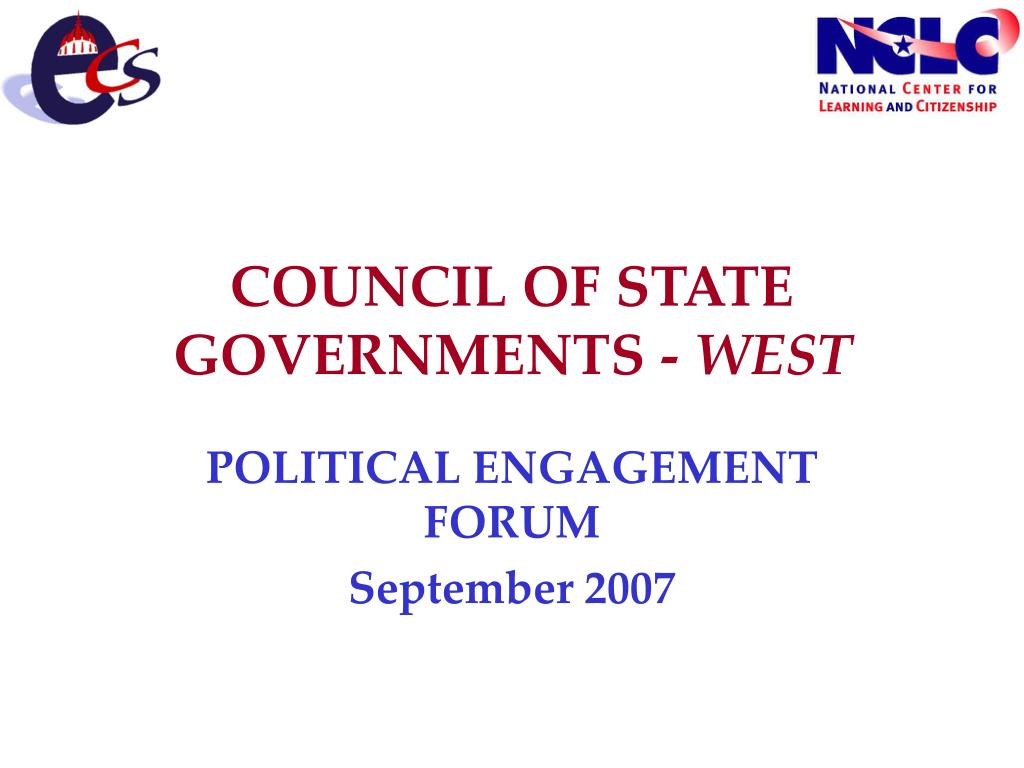 COUNCIL OF STATE GOVERNMENTS -