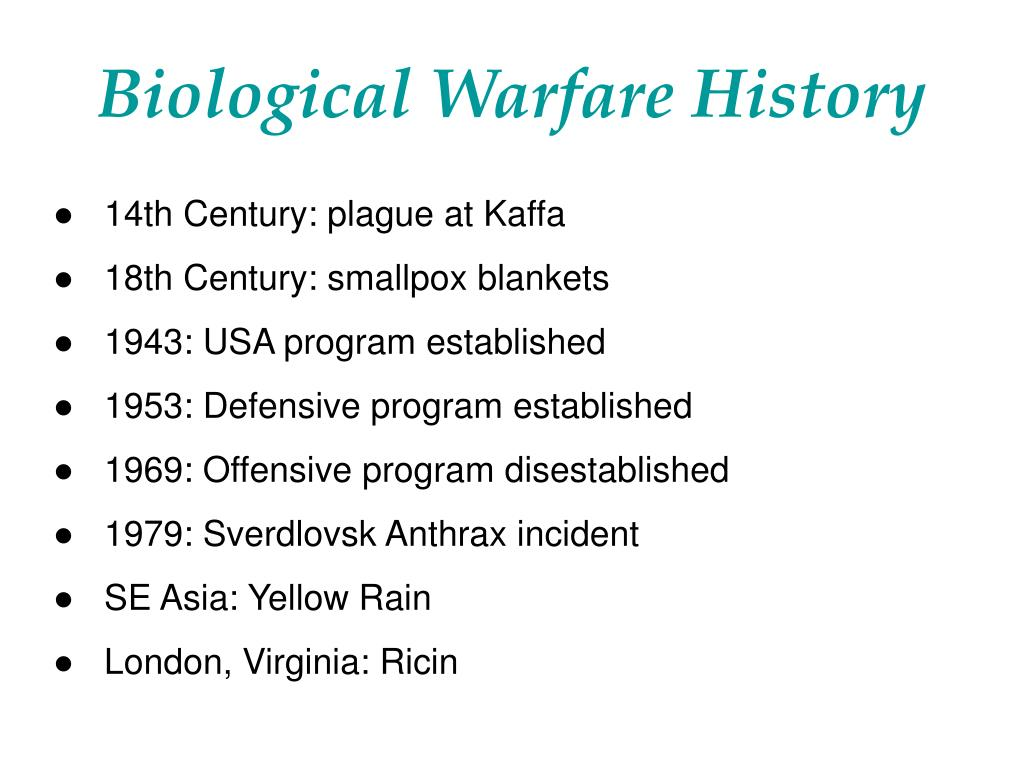 Biological Warfare History