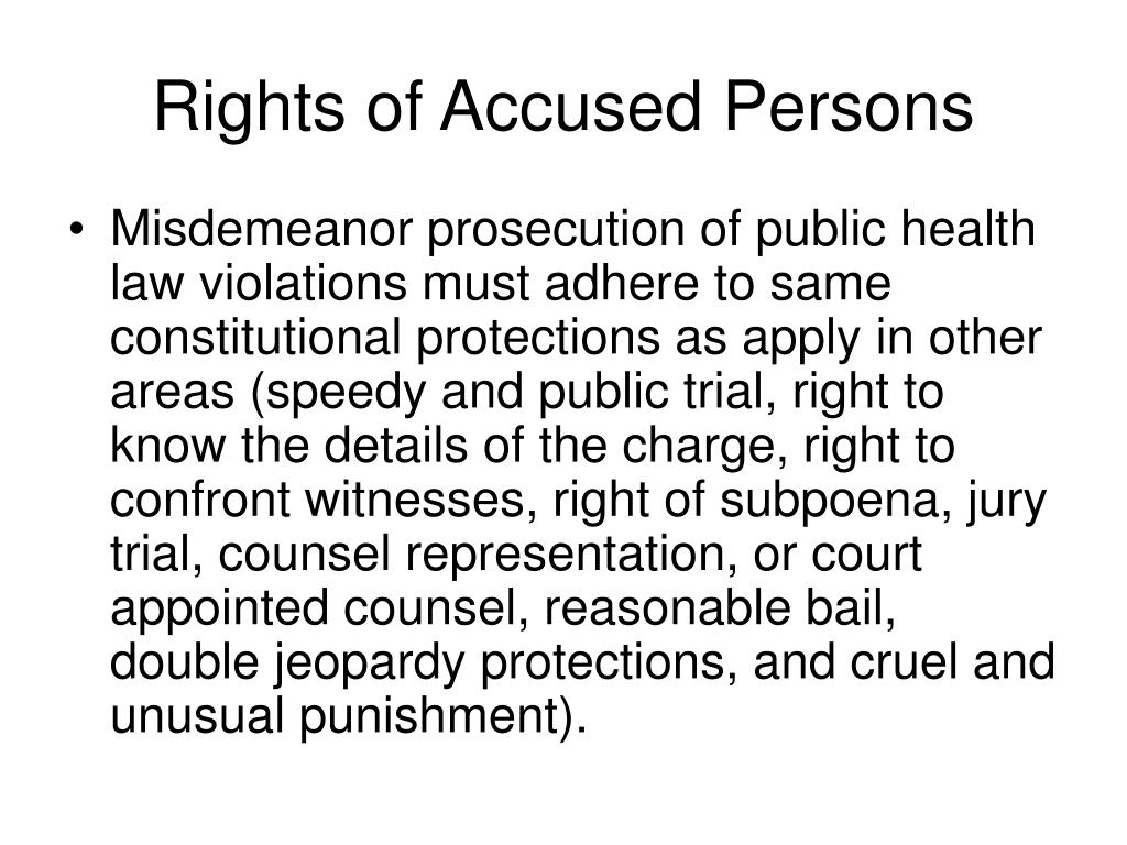 Rights of Accused Persons