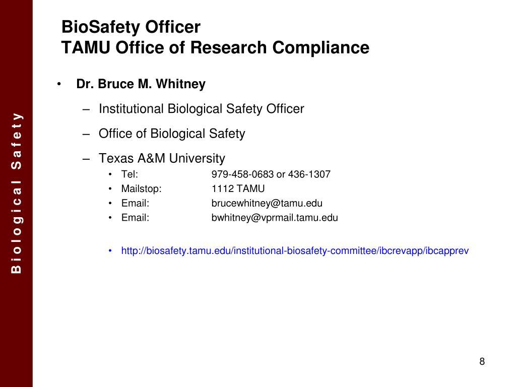 BioSafety Officer