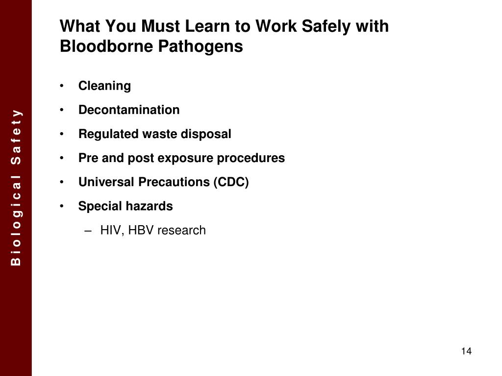 What You Must Learn to Work Safely with Bloodborne Pathogens