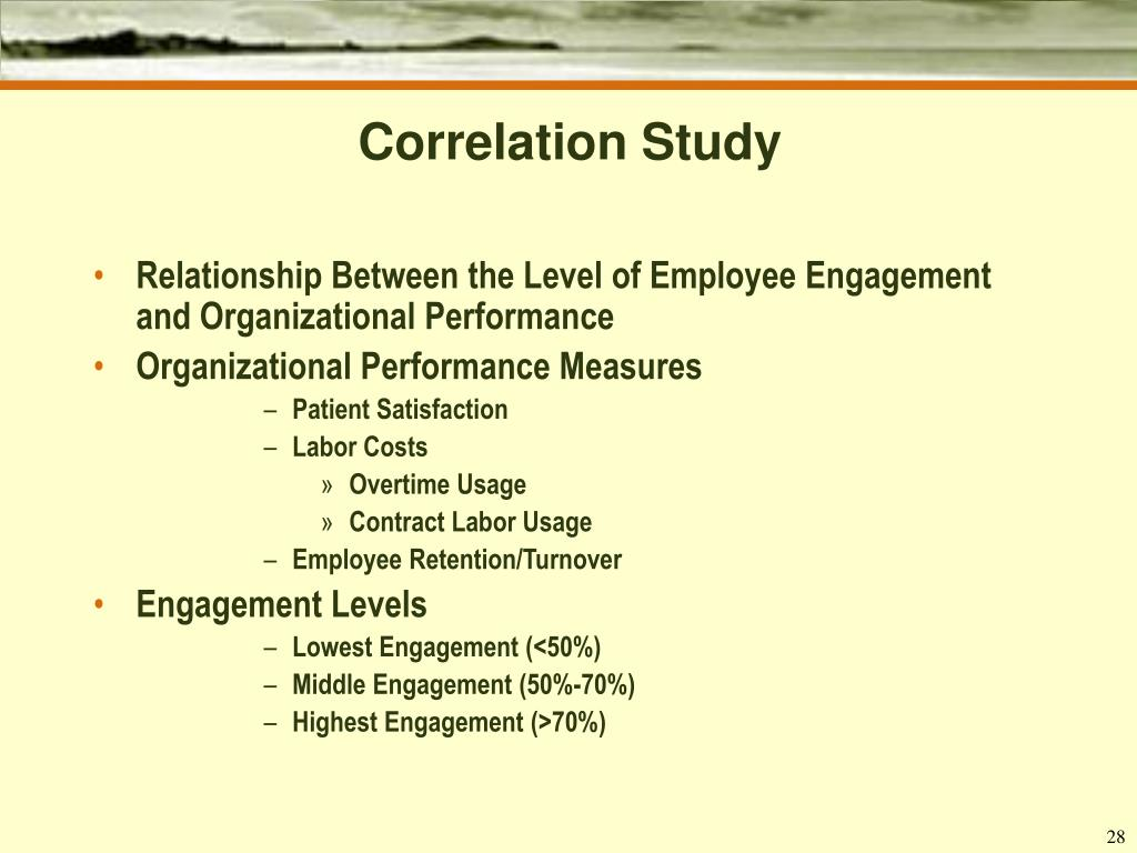 Correlation Study