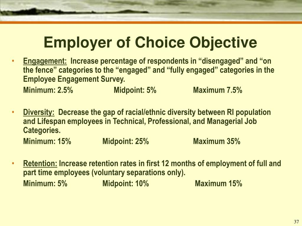 Employer of Choice Objective