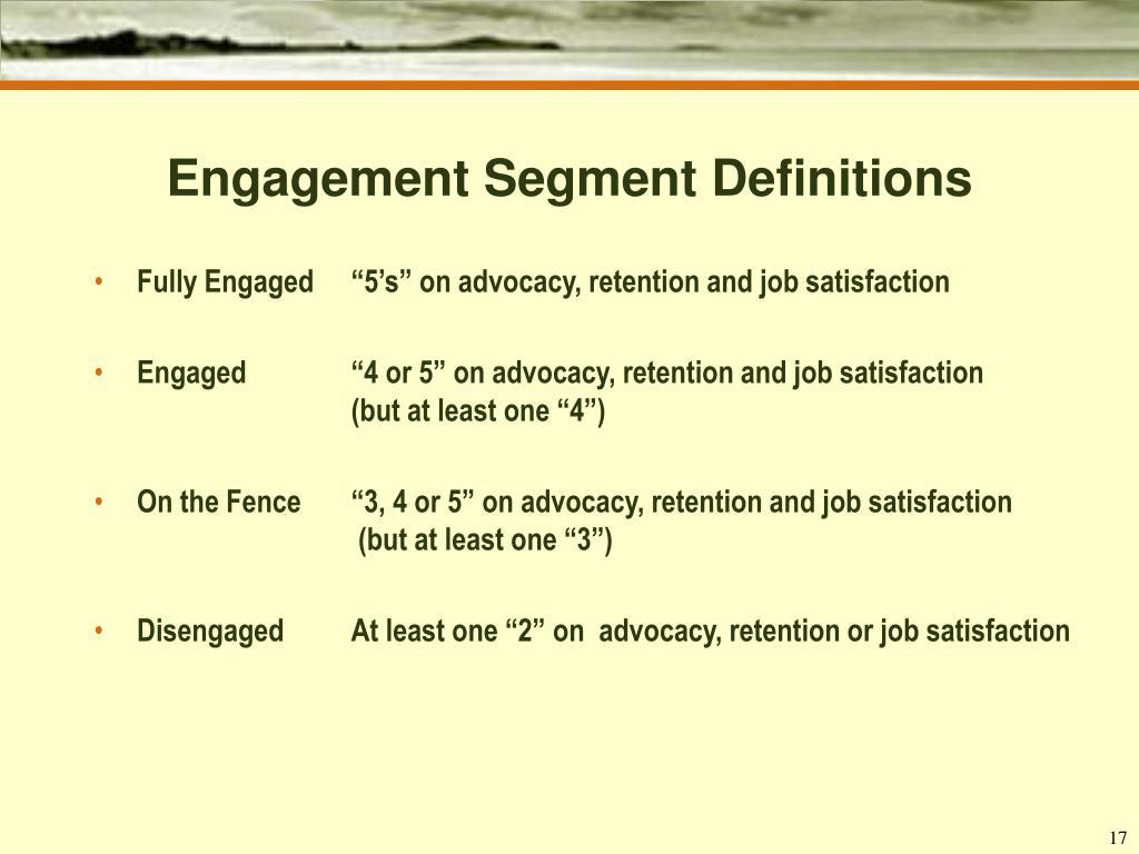 Engagement Segment Definitions