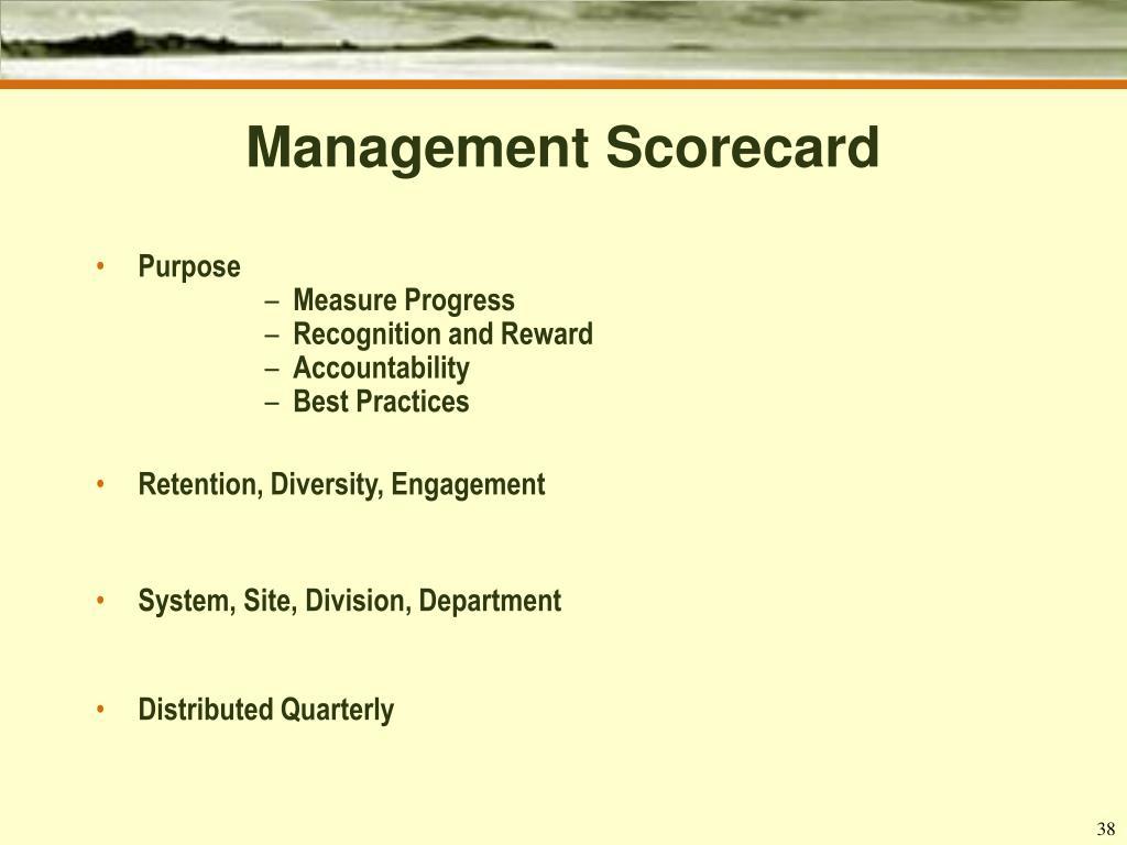 Management Scorecard